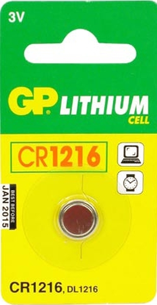 Patarei GP CR1216 3V litium 12,5x1,6mm